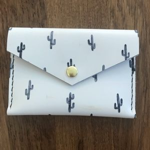 Cactus credit card pouch